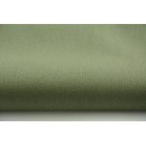 Bawełna prążkowana zieleń butelkowa jednobarwna