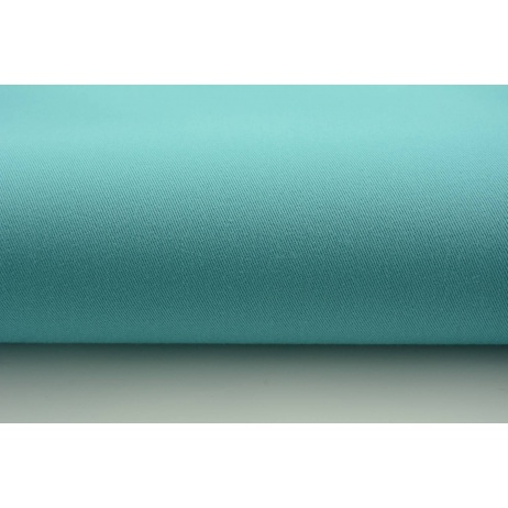 Drill, 100% cotton fabric in a plain subdued turquoise colour