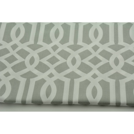 Cotton 100% imperial trellis on a light gray background