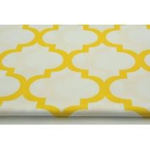 Bawełna 100% żółta koniczyna marokańska na białym tle