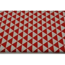 Bawełna 100% drobne czerwone trójkąty