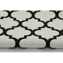 HD czarna koniczyna marokańska na białym tle - HOME DECOR