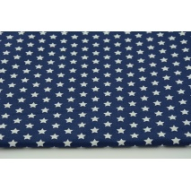 Cotton 100% 1cm white stars on navy background