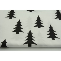 Cotton 100% black Christmas tree on a white background