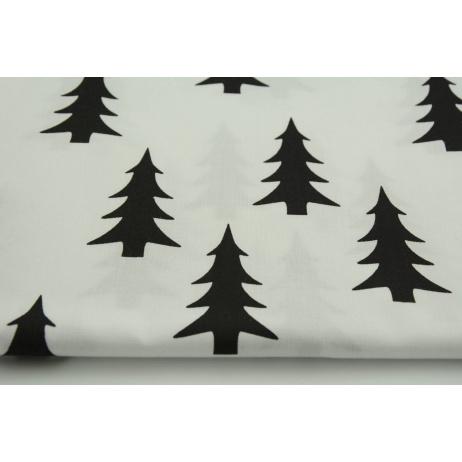 Cotton 100% black Christmas tree on a white background