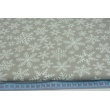 Cotton 100% snowflakes on a gray background