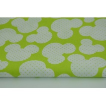 Cotton 100% mouses + dots on a lime background