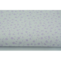 Cotton 100% violet meadow on a white background, small flowers