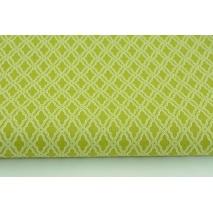 Cotton 100% mini mosaic, diamonds on a green background