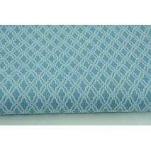 Bawełna 100% mini mozaika, romby na ciemnoniebieskim tle