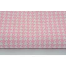 Bawełna 100% pepitka różowa M