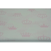 Cotton 100% pink crowns, majesty on a white background