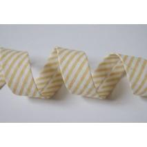 Cotton bias binding beige stripes