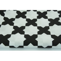 "Cotton 100% black ""x"" on a white background"