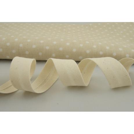 Cotton bias binding natural
