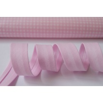 Cotton bias binding pink 18mm