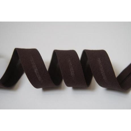 Cotton bias binding chocolate brown 18mm