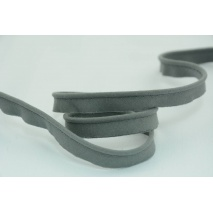 Cotton edging ribbon dark grey