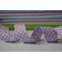 Cotton bias binding violet vichy check 18mm