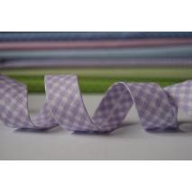 Lamówka bawełniana fioletowa krateczka vichy 18mm