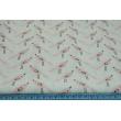 Cotton 100% colorfull birds on a amaranth, fuchsia background