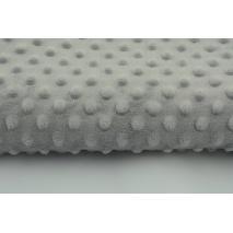 Dimple dot fleece minky light gray color