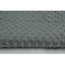 Dimple dot fleece minky dark gray color