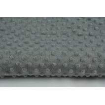 Dimple dot fleece minky dark  gray color