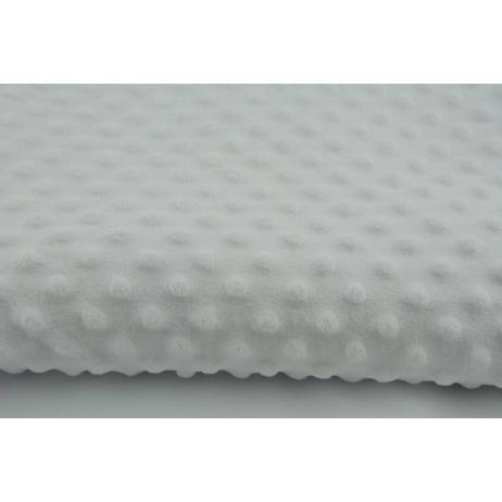 Dimple dot fleece minky white color