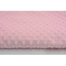 Dimple dot fleece minky pink color