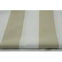 Bawełna 100% pasy beżowe 8cm