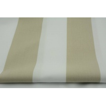 Cotton 100% beige stripes 8cm