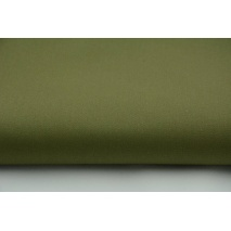 Drill, 100% cotton fabric in plain khaki colour