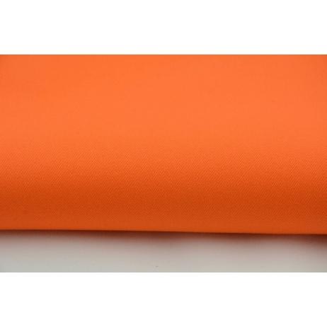 Drill, 100% cotton fabric in a plain intense, bright orange colour