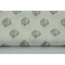 Cotton 100% gray and beige leaves