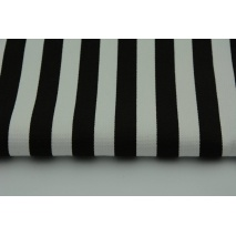 Gruba tkanina HOME DECOR paski czarne 15mm