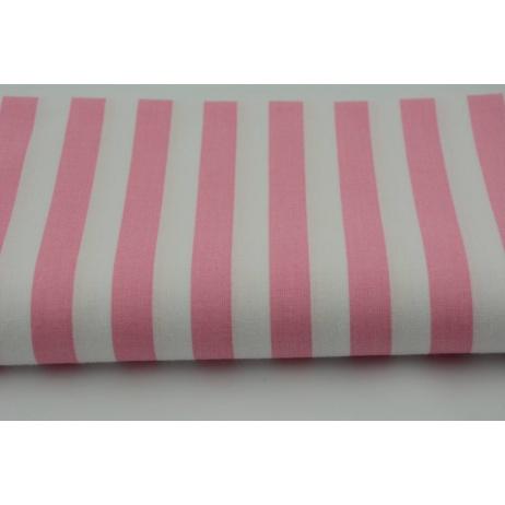 Bawełna 100% paski różowe 2 15mm
