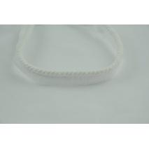 Sznurek bawełniany biały 6mm z taśmą