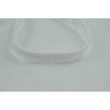 White 6mm Cotton Cord with Ribbon