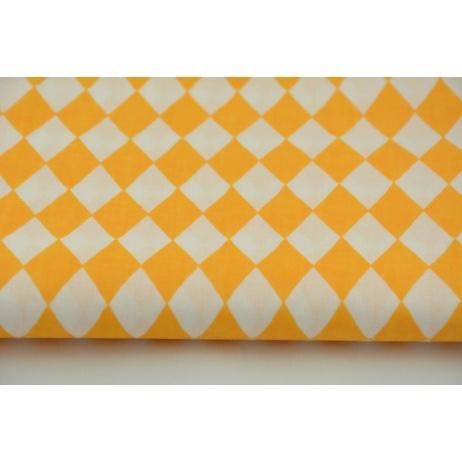 Bawełna 100% małe, żółte romby