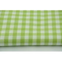 Bawełna 100% kratka vichy, dwustronna zielona 1cm