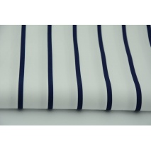 Cotton 100% navy stripes 0,5cm/3cm