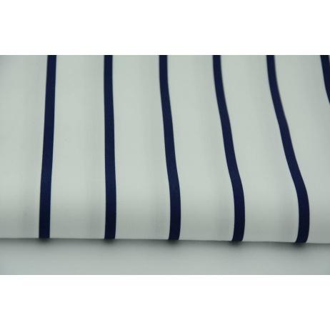 Cotton 100% navy stripes 0,5cm/3cm