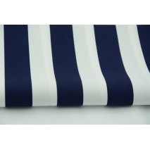 Cotton 100% navy stripes 3cm