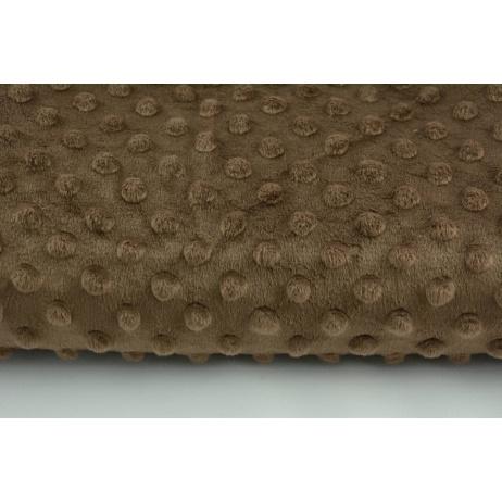 Dimple dot fleece minky in a brown color