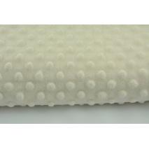 Polar z wytłaczanymi bąbelkami minky ecru 380g/m2