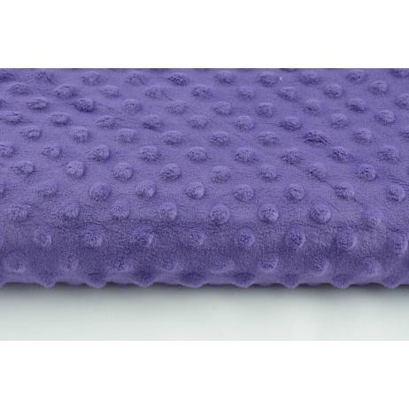 Dimple dot fleece minky in violet color
