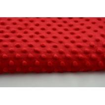 Polar z wytłaczanymi bąbelkami minky czerwony 380g/m2