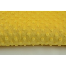 Dimple dot fleece minky in yellow color