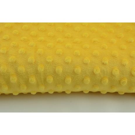 Polar z wytłaczanymi bąbelkami minky żółty